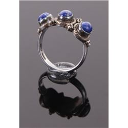Native American Indian  lapis lazuli sterling silver