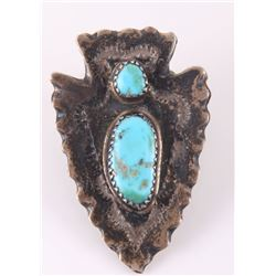 Native American sterling silver turquoise arrowhead