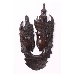 Rama & Sita Balinese wood carving.  When Sita reaches