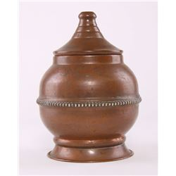 Early 20th Century copper vessel/urn, India.  SIZE: see