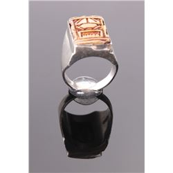 Mexican sterling silver ring.  Ring Size: 9.  SIZE: see