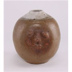 Stoneware face jug, unknown artist. (Size: See second