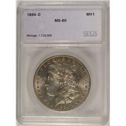 1894-O MORGAN DOLLAR SEGS UNC