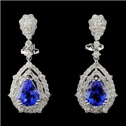 18K White Gold 3.54ct Tanzanite & 1.94ct Diamond E