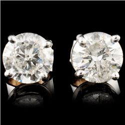 14K Gold 1.87ctw Diamond Earrings
