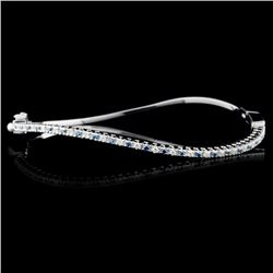 14K White Gold 3.30ctw Fancy Color Diamond Bangle