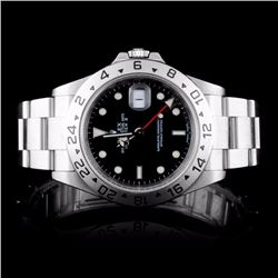 Rolex SS Explorer II Men's Wristwatch