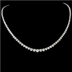 14K Gold 8.68ctw Diamond Necklace