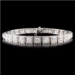 14K Gold 7.78ctw Diamond Bracelet