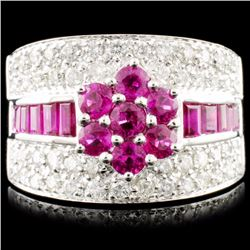 18K Gold 1.75ct Ruby & 0.84ctw Diamond Ring