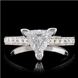 18K White Gold 1.15ctw Diamond Ring