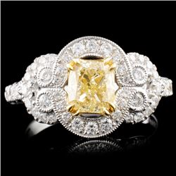 18K Gold 1.79ctw Fancy Diamond Ring