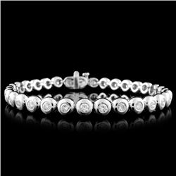 18K White Gold 2.71ctw Diamond Bracelet