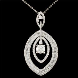 18K Gold 1.83ctw Diamond Pendant