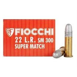 *AMMO* Fiocchi 33SM300 Super Match 22 Long Rifle Lead Round Nose 40 GR (500 ROUNDS) 762344042053