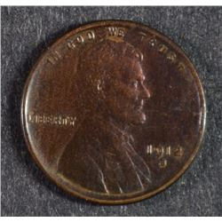 1912-S LINCOLN CENT, CHOICE BU+