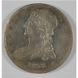 1838 REEDED EDGE CAPPED BUST HALF DOLLAR XF/AU