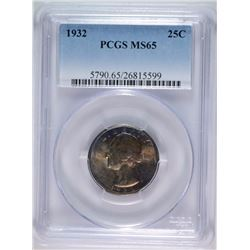 1932 WASHINGTON QUARTER, PCGS MS-65  WONDERFUL ORIGINAL COIN