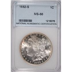 1882-S MORGAN DOLLAR NNC GRADED GEM BU+