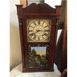Daniel Pratt, Jr. Wooden Works Shelf Clock