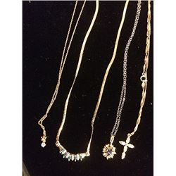 4 Gold Necklaces