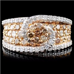 14K Gold 2.45ctw Fancy Diamond Ring