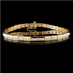 14K Yellow Gold 4.00ctw Diamond Bracelet