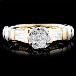 14K TT Gold 0.52ctw Diamond Ring