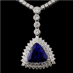 18K White Gold 7.84ct Tanzanite & 10.67ct Diamond