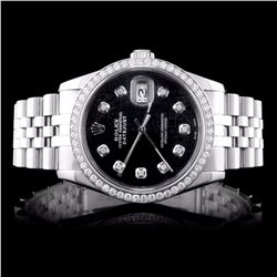 Rolex SS DateJust 1.50CT Diamond Wristwatch