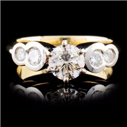 14K Two-tone 1.30ctw Diamond Ring