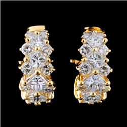 18K Yellow Gold 3.25ctw Diamond Earrings