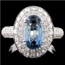 18K Gold 2.48ct Sapphire & 1.68ct Diamond Ring