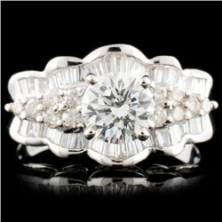 18K Gold 2.36ctw Diamond Ring