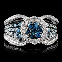 14K White Gold 2.46ctw Fancy Color Diamond Ring
