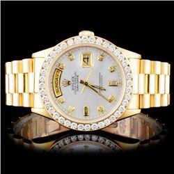 Rolex 18K YG Presidential 2.00ct Diamond Wristwatc