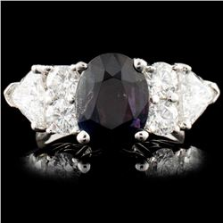 18K Gold 3.08ct Alexandrite & 2.16ctw Diamond Ring