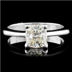 18K Gold 1.21ct Solitaire Diamond Ring