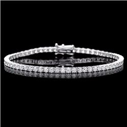 ^18k White Gold 4.60ct Diamond Bracelet