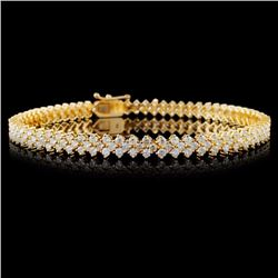 18K Yellow Gold 4.00ctw Diamond Bracelet