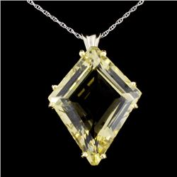 14K Gold 15.0ct Citrine Pendant