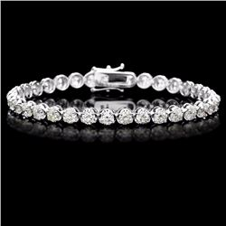 ^18k White Gold 9.00ct Diamond Tennis Bracelet