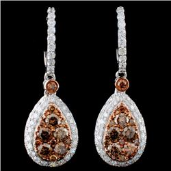14K Gold 2.48ctw Fancy Diamond Earrings