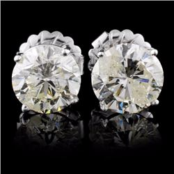 14K White Gold 6.15ct Diamond Earrings