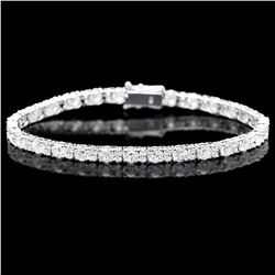 ^18k White Gold 8.70ct Diamond Bracelet