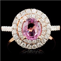 14K Gold 1.28ct Spinel & 0.85ctw Diamond Ring