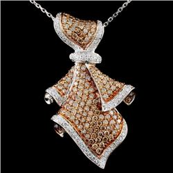 14K Gold 2.52ctw Fancy Diamond Pendant