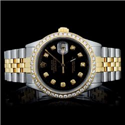 Rolex YG/SS DateJust 1.50ct Diamond Men's Watch
