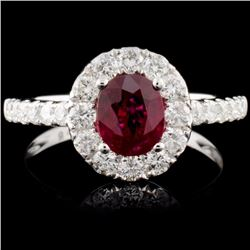 18K Gold 1.02ct Ruby & 0.75ct Diamond Ring