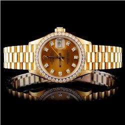 Rolex 18K YG Ladies 1.00ct Diamond Wristwatch